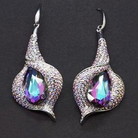 Diamond Sky Earrings With Crysals From Swarowski Vine III Vitrail Light