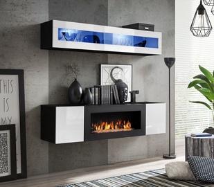 ASM Fly N2 Living Room Wall Unit Set White/Black