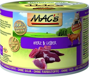 Mac's Cat Heart & Liver 200g