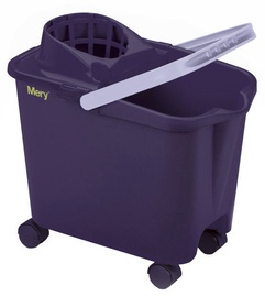 Mery Cleaning Bucket On Wheels 14L Violet