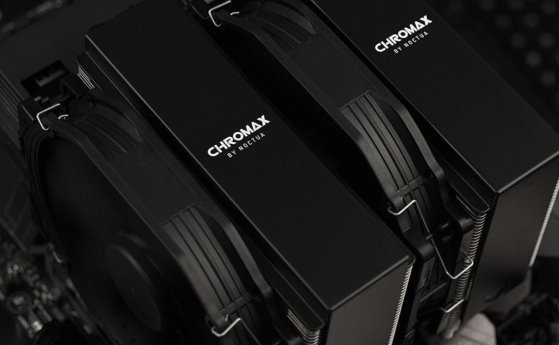 Noctua NA-HC4 chromax.Black Heatsink Cover for NH-D15 Black NH-D15S /& NH-D15 SE-AM4