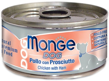 Monge Dog Chicken With Ham 95g