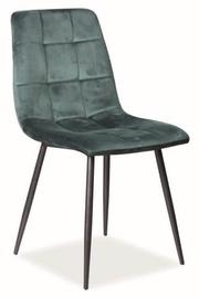 Стул для столовой Signal Meble Mila Velvet Green, 1 шт.