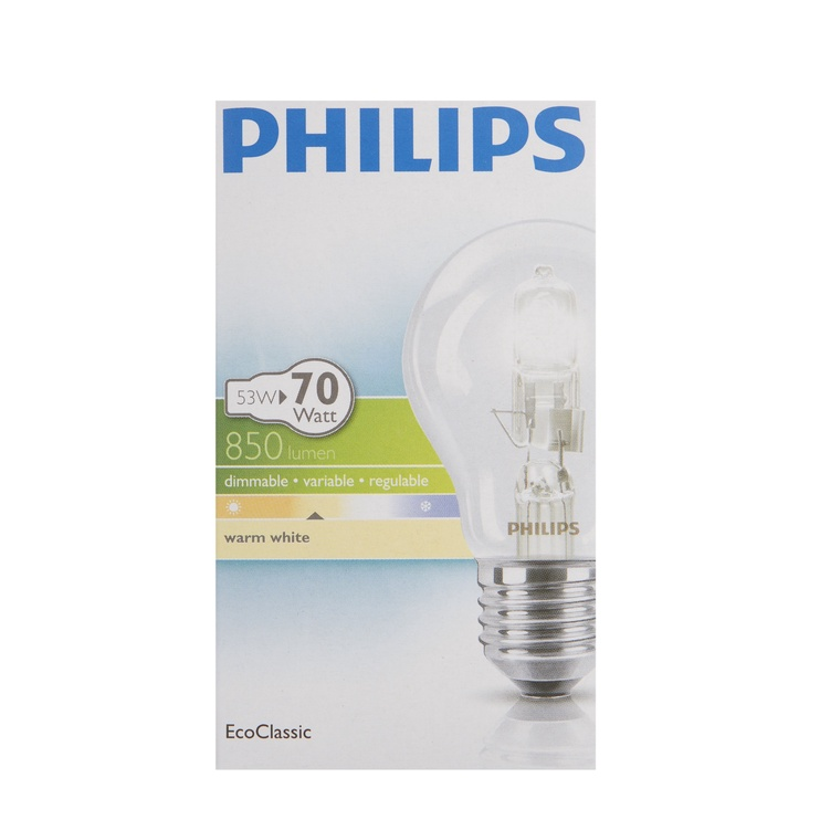Halogeenlamp Philips Ecoclassic 53 W, E27