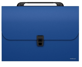 ErichKrause Briefcase With 12 Splitters Classic A4 Blue