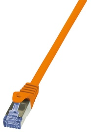 LogiLink Patch Cable Cat.6A from Cat.7 600 MHz S/FTP PIMF PrimeLine 5m Orange