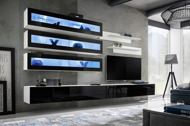 ASM Fly J2 Living Room Wall Unit Set Black/White