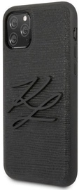 Karl Lagerfeld Lizard Back Case For Apple iPhone 11 Pro Max Black