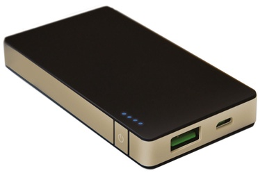 Celly Sottile Power Bank 4000mAh Black/Gold