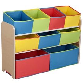 Delta Children Deluxe Multi Bin Toy Organizer Multi Color