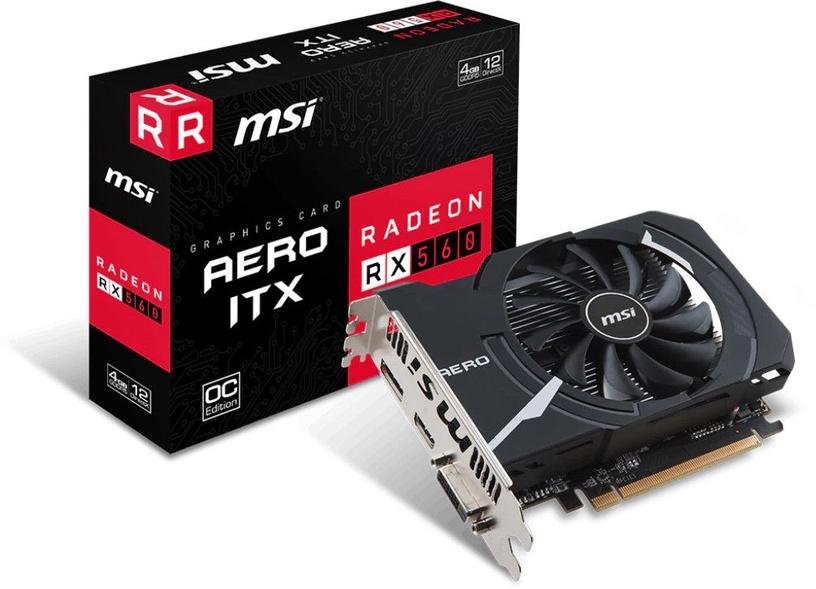 MSI Radeon RX 560 AERO OC 4GB GDDR5 PCIE V809-2466R