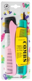 Paula Gray Family 6 Pack Comb Set Hair Brush