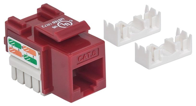 Intellinet Cat6 UTP RJ45 Keystone Jack Red