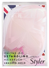 Tangle Teezer Compact Styler Brush Smashed Holo Pink