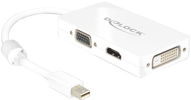 Delock mini DisplayPort 1.1 male to VGA / HDMI / DVI female White