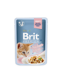 Konserveeritud kassitoit Brit Premium Cat Delicate Chicken for Kitten in Gravy, 85 g