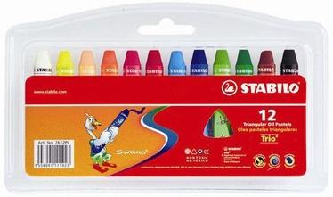 Stabilo Trio Triangular Oil Pastels 12pcs