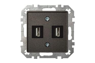 Liregus USB Socket UK-2-01 Black