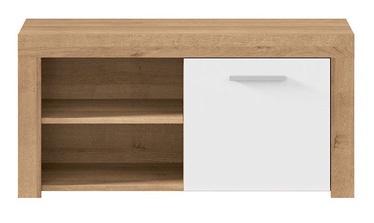 Шкаф для обуви Black Red White Balder Riviera Oak/White Gloss, 900x365x440 мм