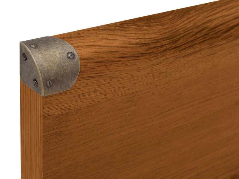 Voodi Black Red White Indiana Sutter Oak, 90 x 200 cm