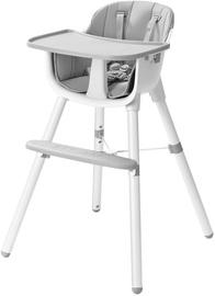 Стульчик для кормления EcoToys, белый/серый