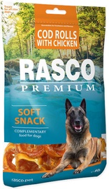 Rasco Dog Premium Snacks Cod Rolls With Chicken 80g
