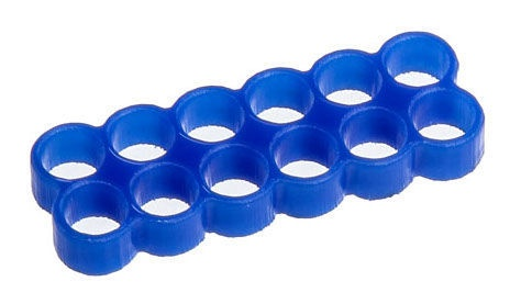 E22 Stealth Cable Comb 12 Slots 4mm Blue