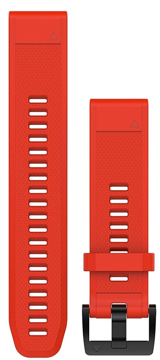 Garmin Fenix 5 22mm QuickFit Red Silicone Band