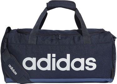 Adidas Linear Logo Duffel Bag S FM6745 Navy Blue