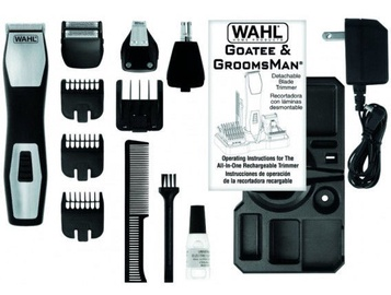 Wahl GroomsMan Pro Rechargeable Grooming Kit 9855-1216 Black