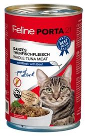 Feline Porta 21 Cat Wet Food w/ Tuna & Beef 400g