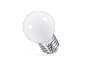 Led lamp Spectrum P45, 1W, E27, 3000K, 10 lm, RGB