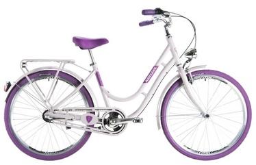 "Jalgratas Kenzel Nostalgic Classic White/Purple, 16"", 28"""
