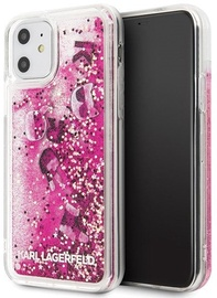 Karl Lagerfeld Glitter Floating Back Case For Apple iPhone 11 Black/Pink