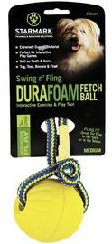Starmark Swing 'n Fling DuraFoam Fetch Ball M Yellow