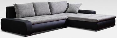 Угловой диван Platan Solano 03 Black/Grey, 272 x 183 x 82 см