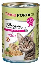 Feline Porta 21 Cat Wet Food w/ Chicken & Aloe 400g