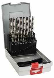 Bosch 2608587013 HSS-G Metal Drill Bit Set 19pcs