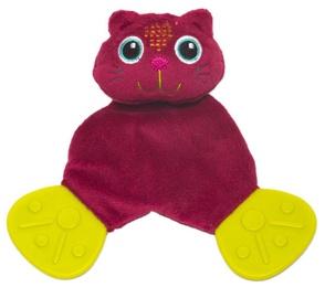 Oops Comforter Teething Toy Cat Pink