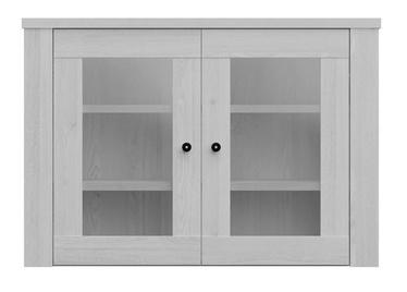 Black Red White Amsterdam Glass Door Cabinet Grey