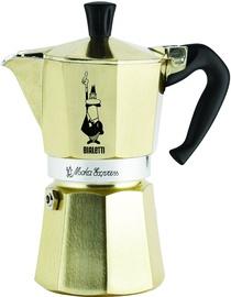 Bialetti Moka Express Stovetop Espresso Maker Golden 6 cups