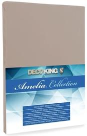 Voodilina DecoKing Amelia Cappuccino, 180x200 cm, kummiga