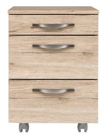Black Red White Executive Drawer San Remo Oak