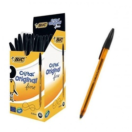 Bic Cristal Original Fine Ball Pen 0.3mm Black 50pcs