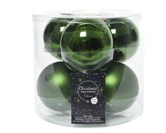 Елочная игрушка Kaemingk 140402, зеленый, 80 мм, 6 шт.