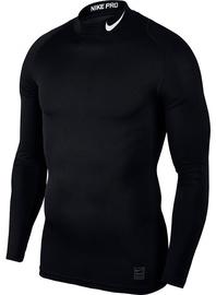 Nike Men's T-shirt Pro Cool Compression Mock LS 838079 010 Black 2XL