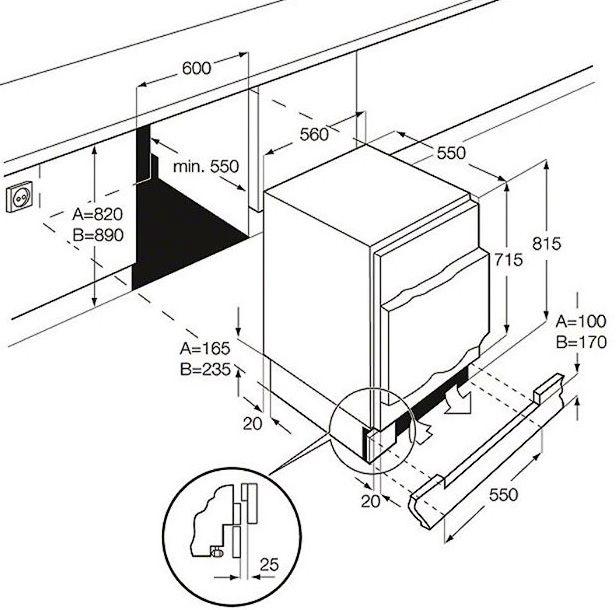 Integreeritav külmik Electrolux ERN1300AOW