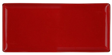 Porland Seasons Serving Plate 16.1x35.3cm Red