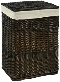 Home4you Laundry Basket Max 45x34xH59cm Dark Brown