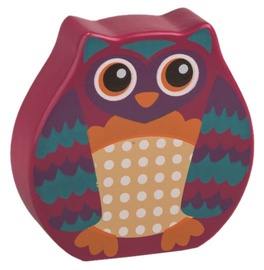 Oops Wooden Rattle Toy Owl Pink 13008.12